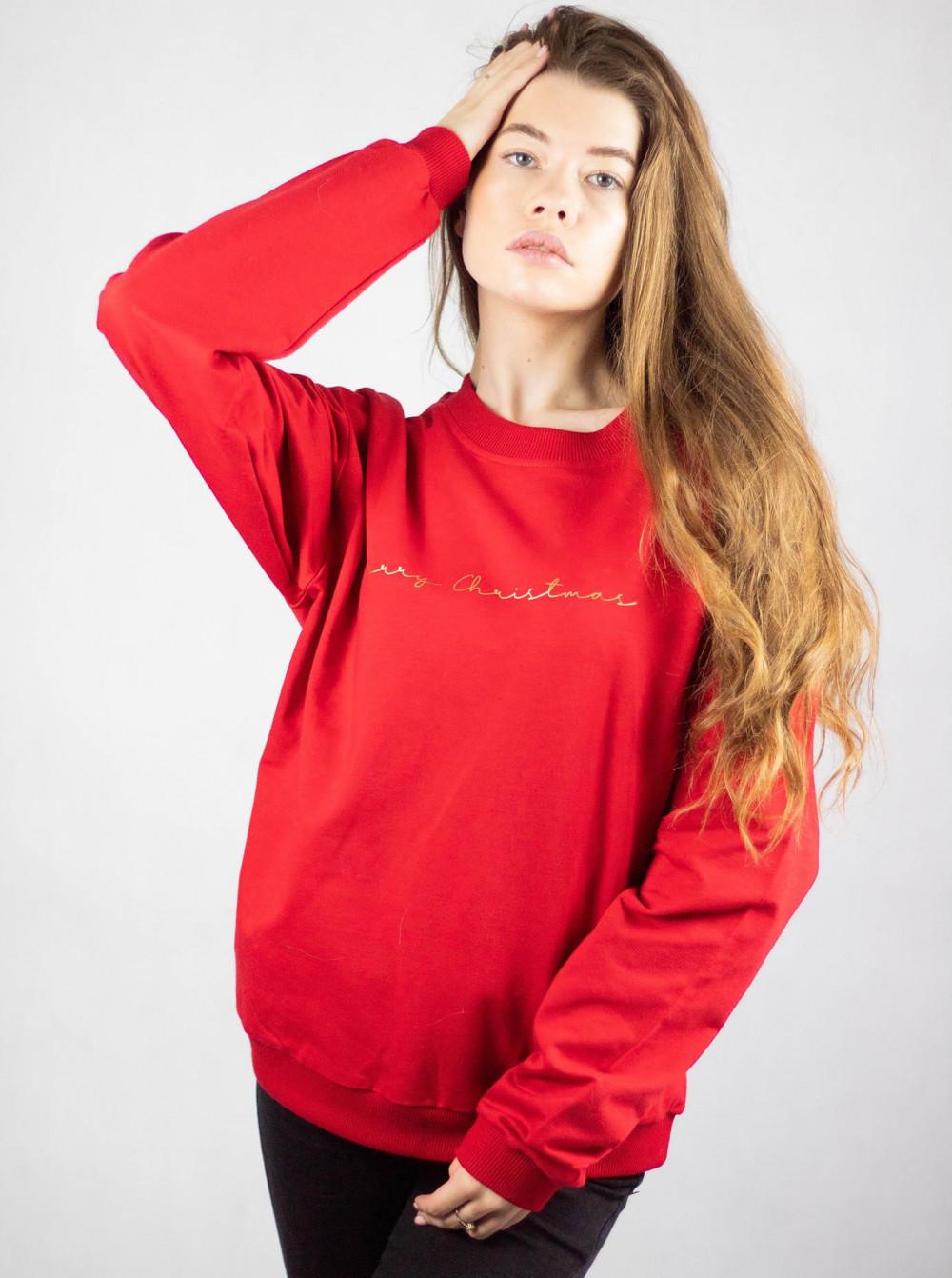 Bluza dresowa czerwona Merry Christmas 2