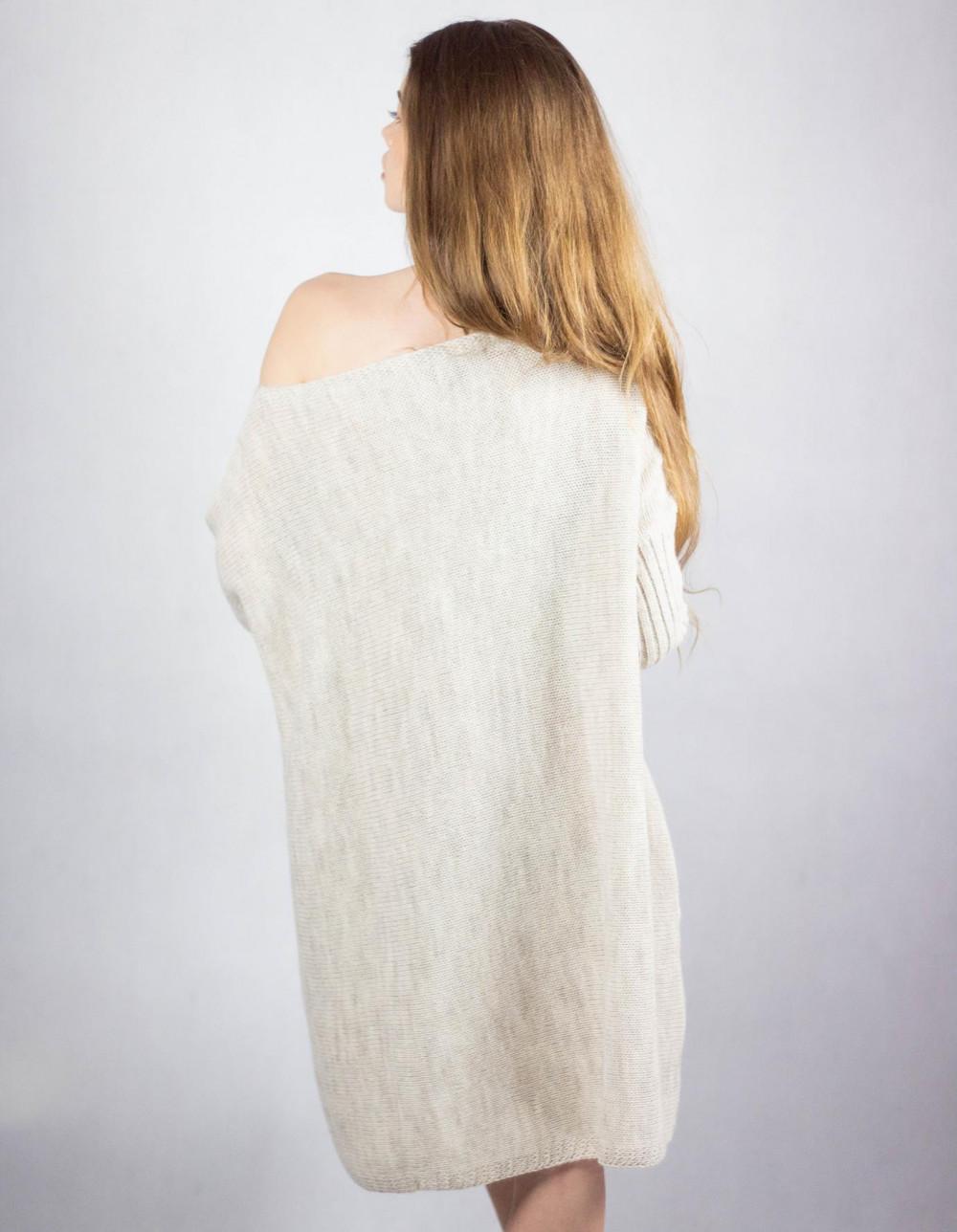 Beżowy sweter tunika Olivia 3