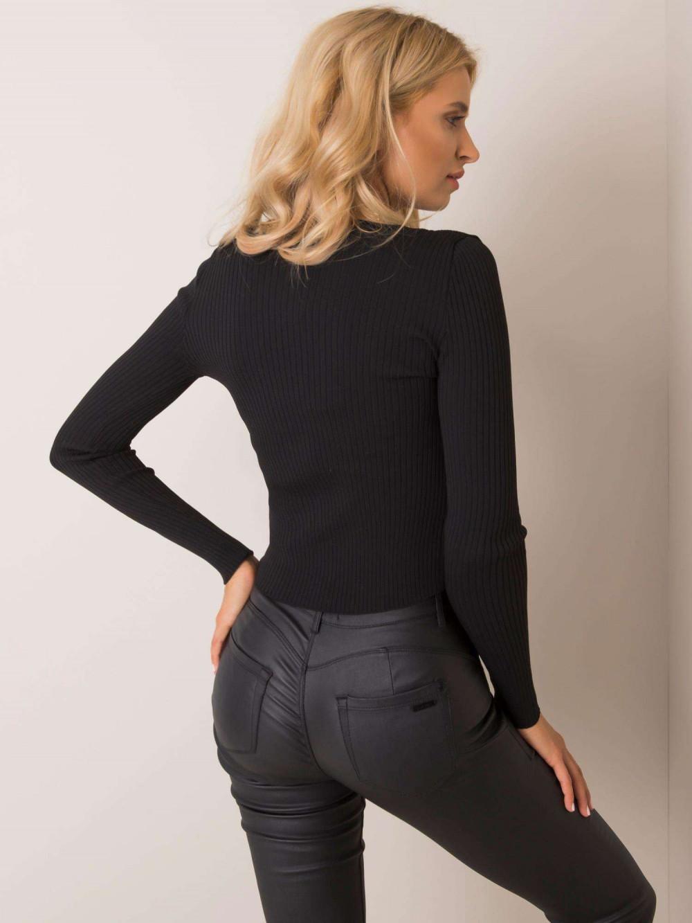 Czarny sweter rozpinany Cannes 1
