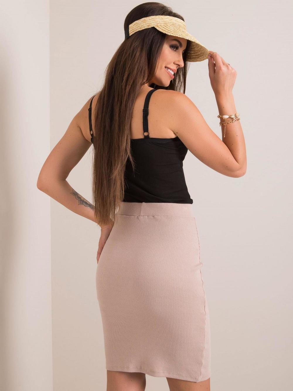 Beżowa ołówkowa spódnica damska Bresso 1