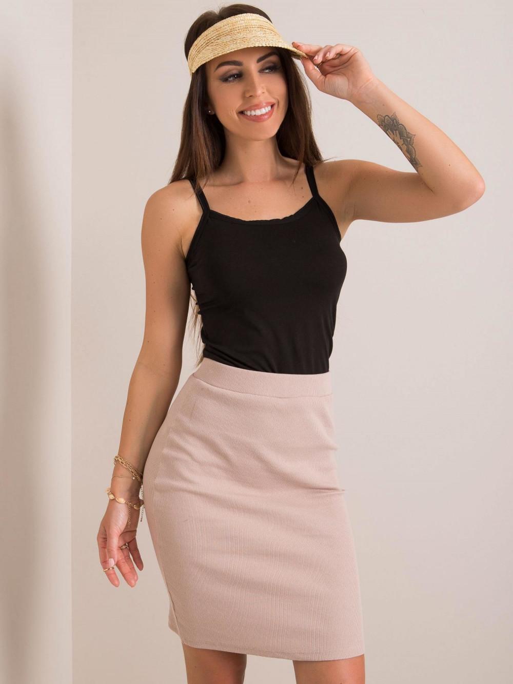 Beżowa ołówkowa spódnica damska Bresso 2
