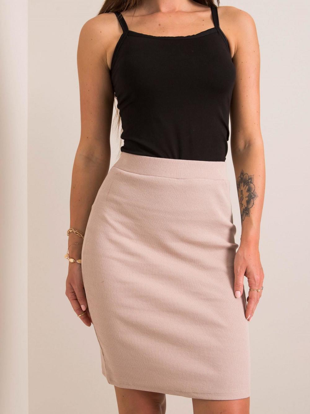 Beżowa ołówkowa spódnica damska Bresso 3
