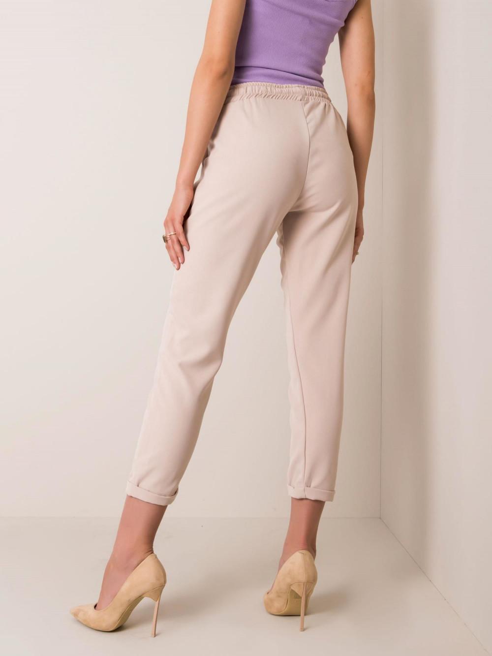 Beżowe spodnie materiałowe Evry 1