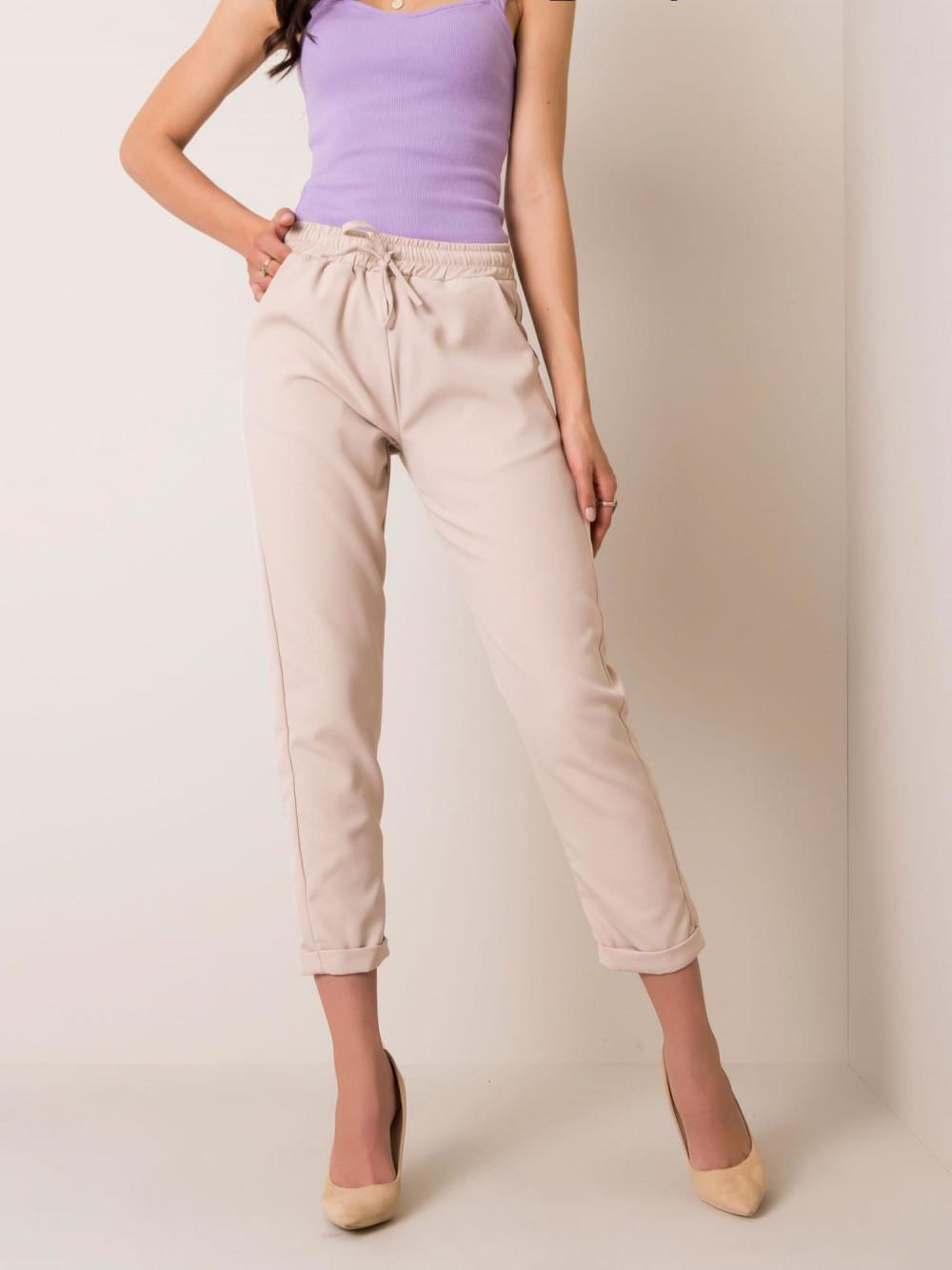 Beżowe spodnie materiałowe Evry 3