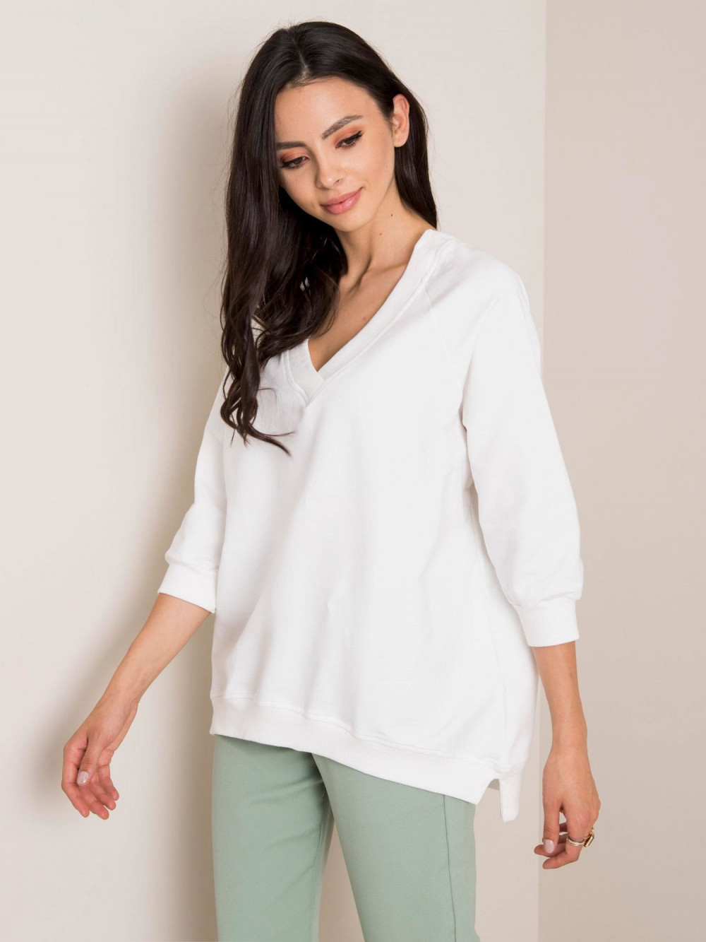 Biała bluza oversize Lorient 1