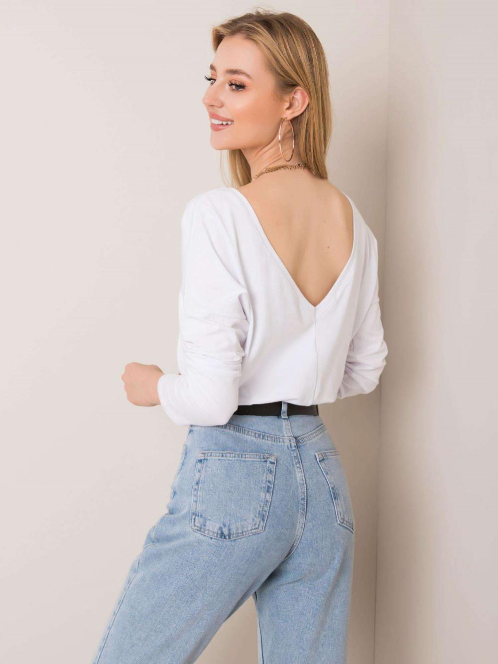 Biała bluzka z wycięciem na plecach Meaux 1