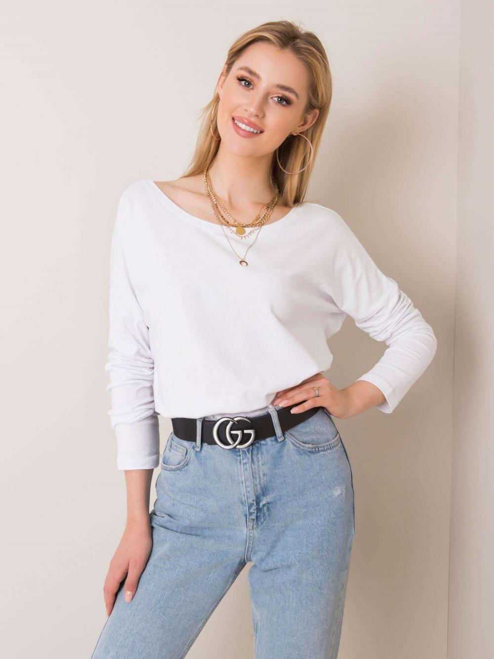 Biała bluzka z wycięciem na plecach Meaux 2