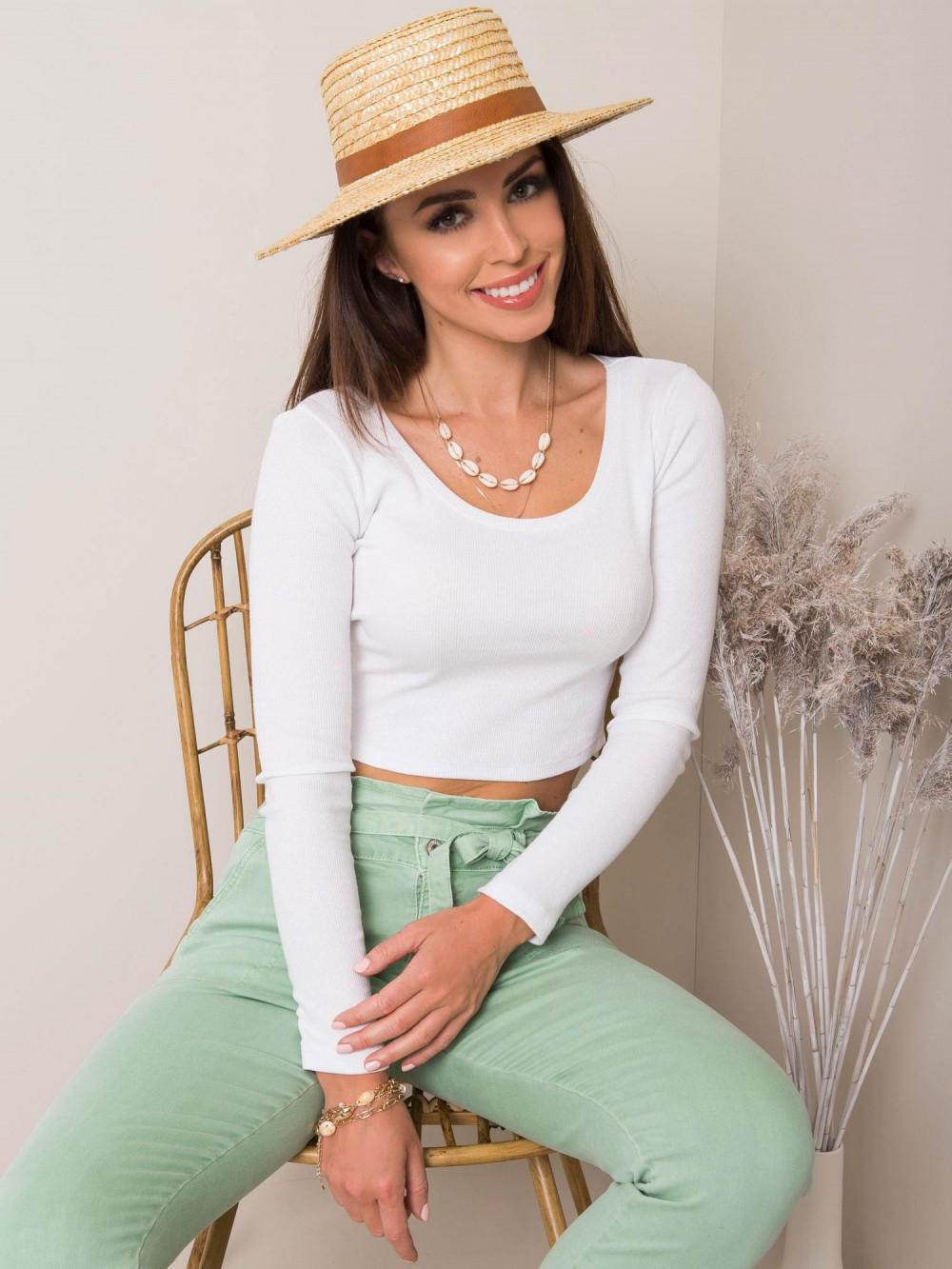Biała bluzka crop top Poissy 3