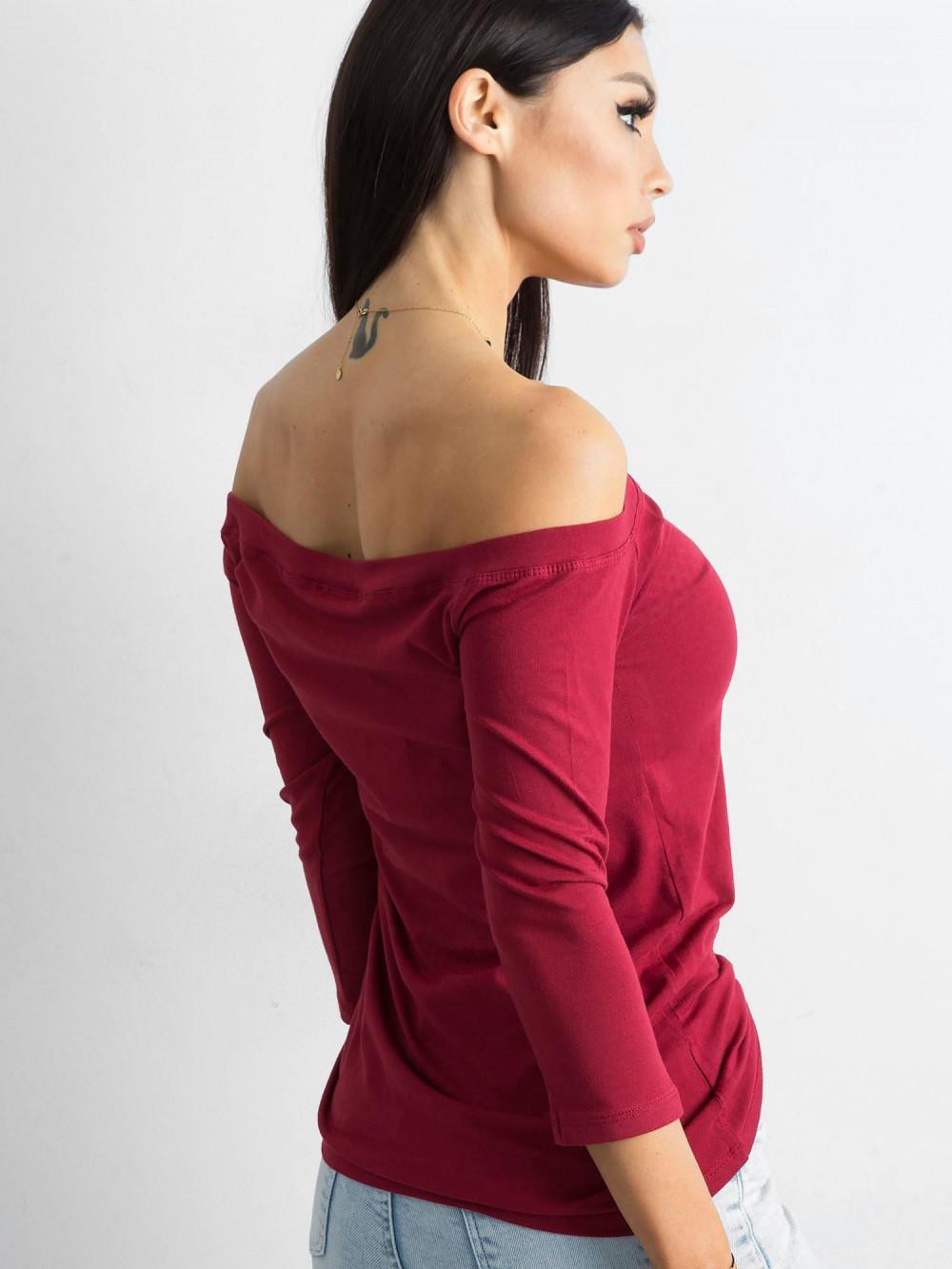 Bordowa bluzka off-shoulder Vienne 2