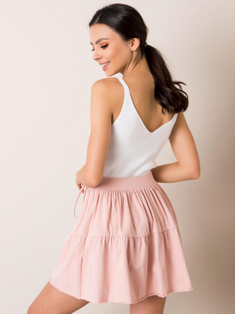 Różowa mini spódniczka rozkloszowana Sannois 1