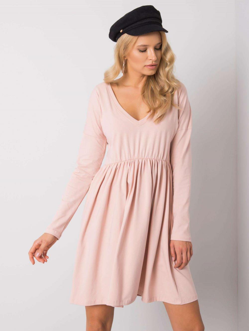 Jasnoróżowa sukienka rozkloszowana Pontoise 2