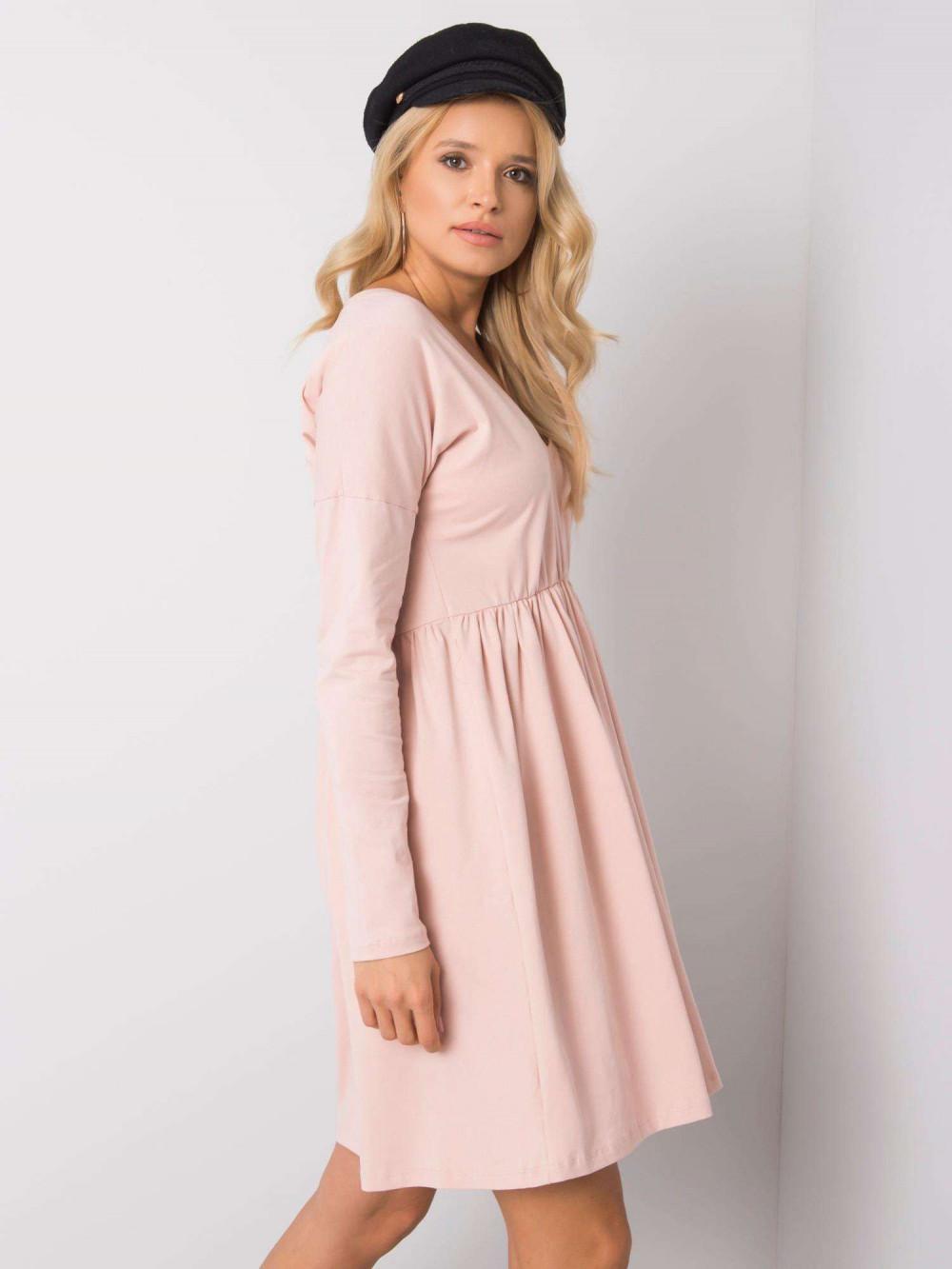 Jasnoróżowa sukienka rozkloszowana Pontoise 3