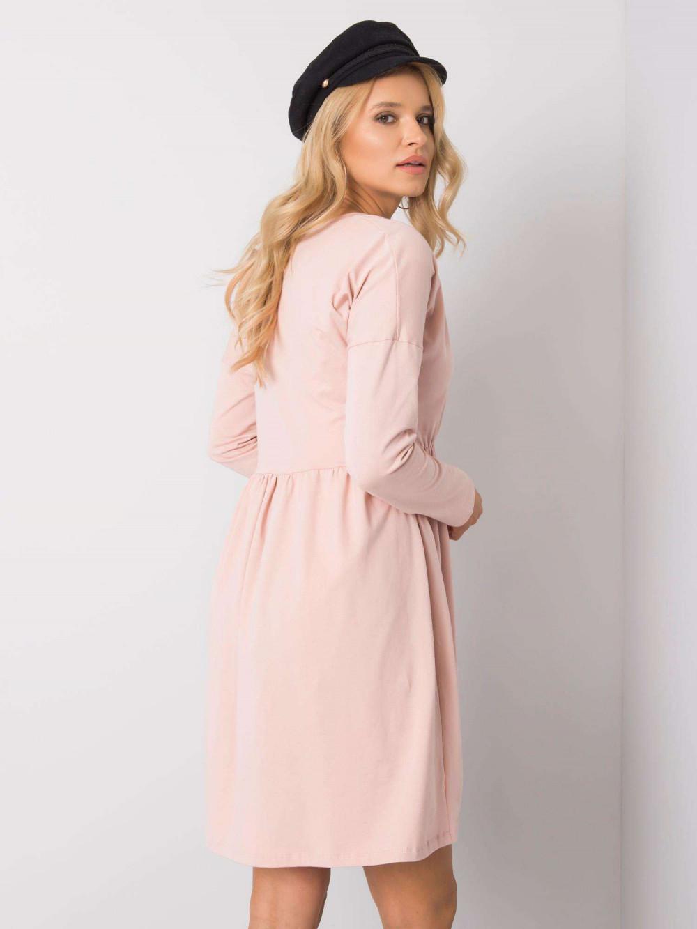 Jasnoróżowa sukienka rozkloszowana Pontoise 4