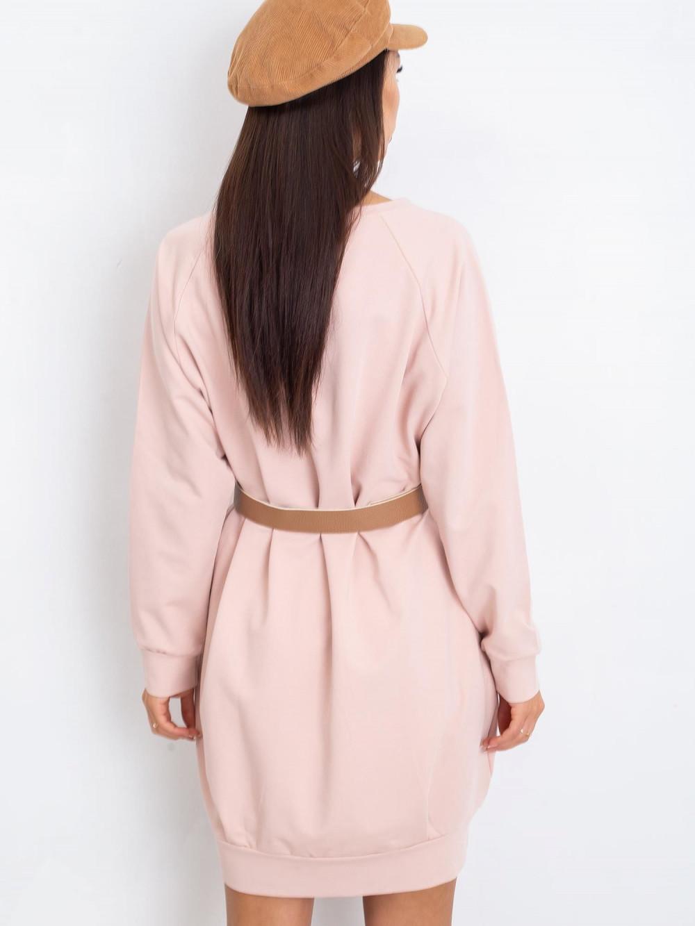 Różowa sukienka bluza Glove 1