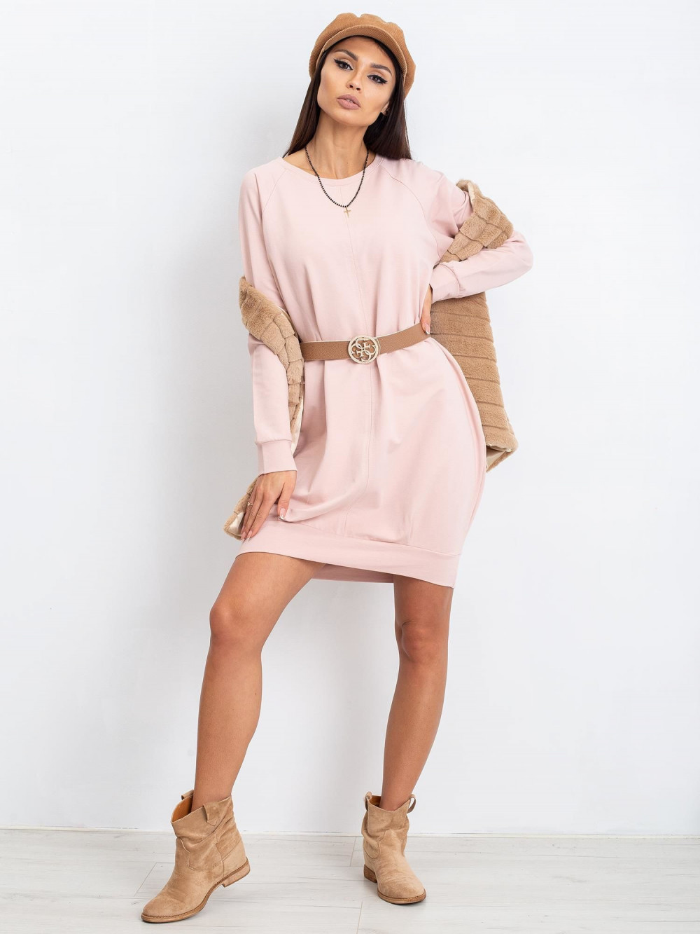 Różowa sukienka bluza Glove 2
