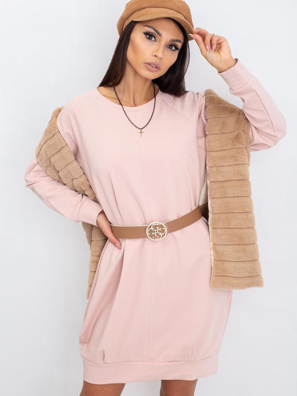 Różowa sukienka bluza Glove 4