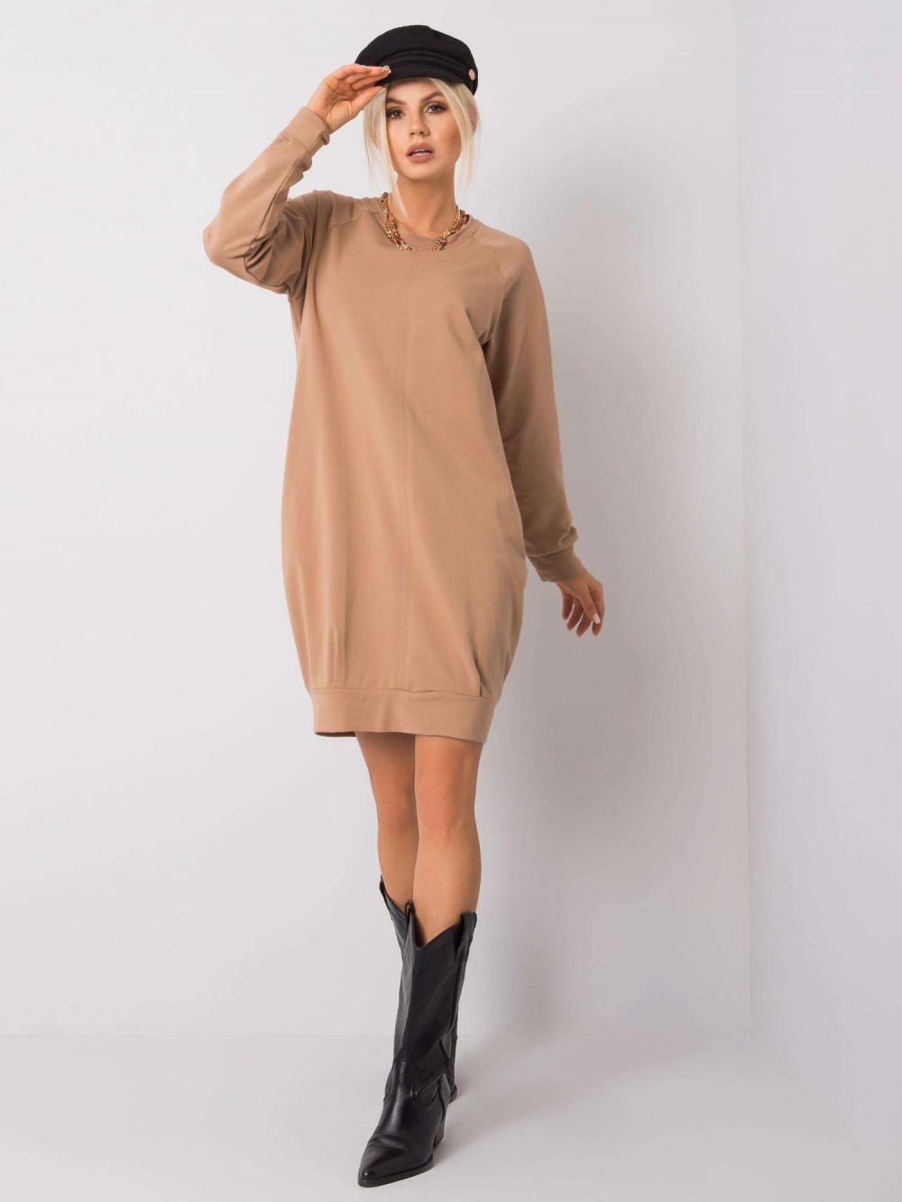 Karmelowa sukienka bluza Tours 1