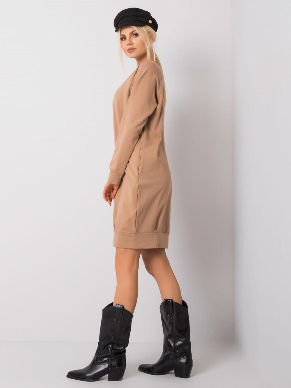 Karmelowa sukienka bluza Tours 2