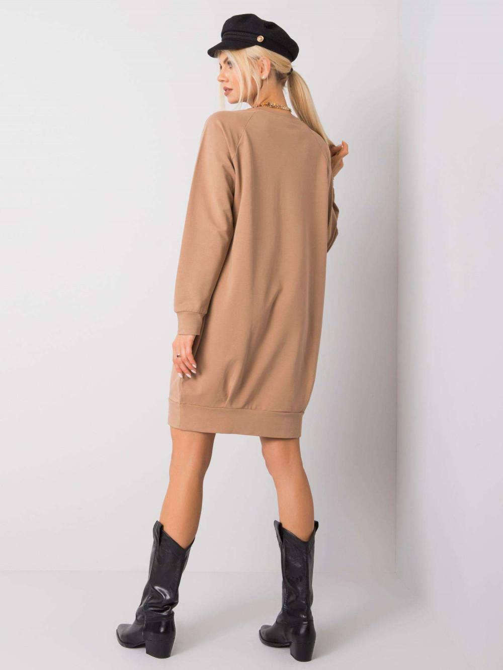 Karmelowa sukienka bluza Tours 3