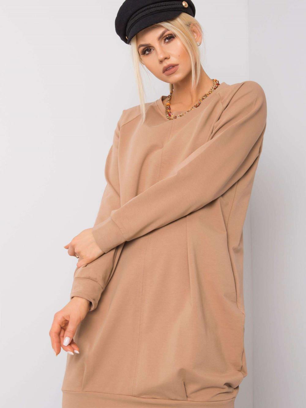 Karmelowa sukienka bluza Tours 4