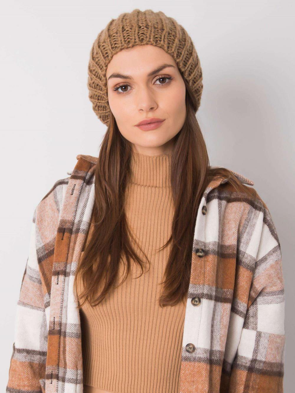 Brązowa czapka damska Nevers 3