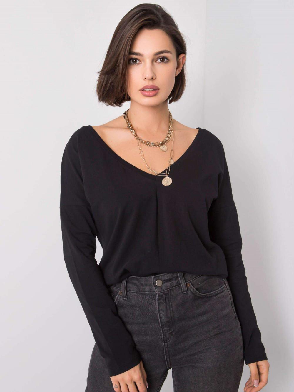 Czarna bluzka z wycięciem na plecach Venezia 1