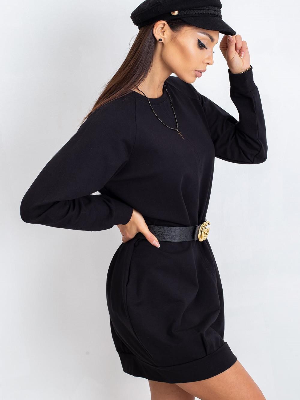 Czarna sukienka bluza Isernia 1