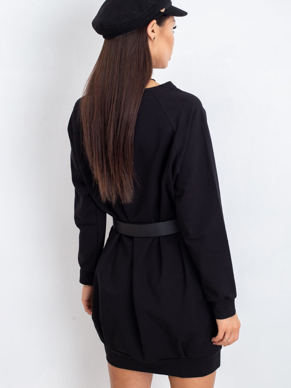 Czarna sukienka bluza Isernia 2