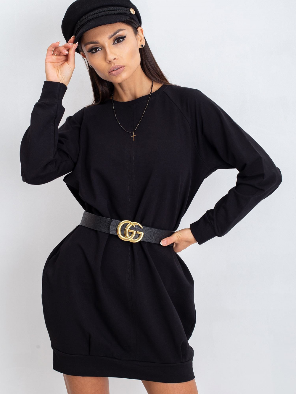 Czarna sukienka bluza Isernia 4