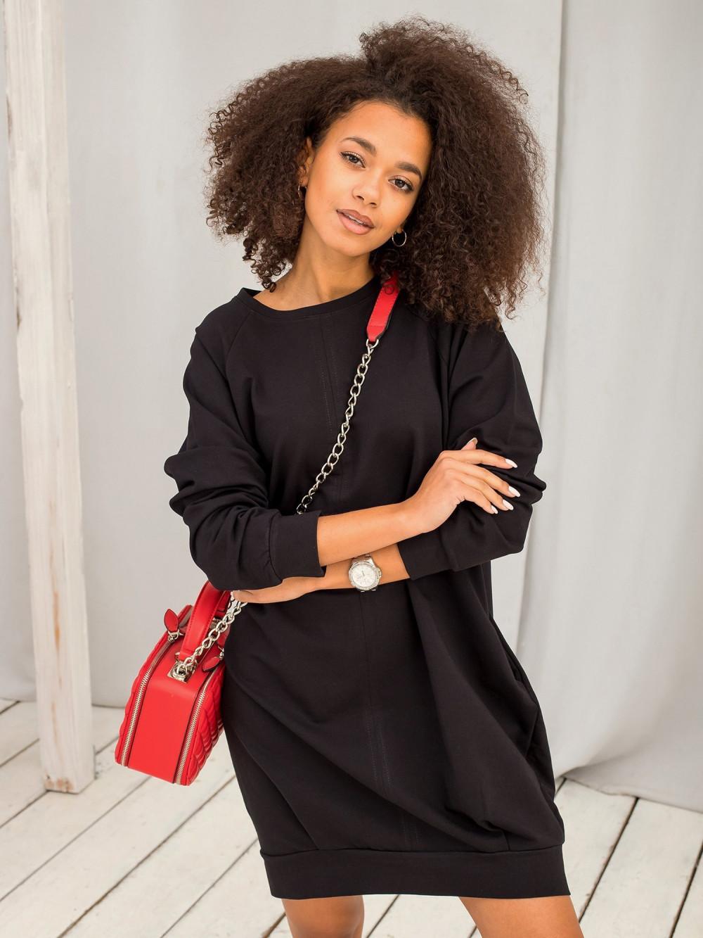 Czarna sukienka bluza Isernia 8