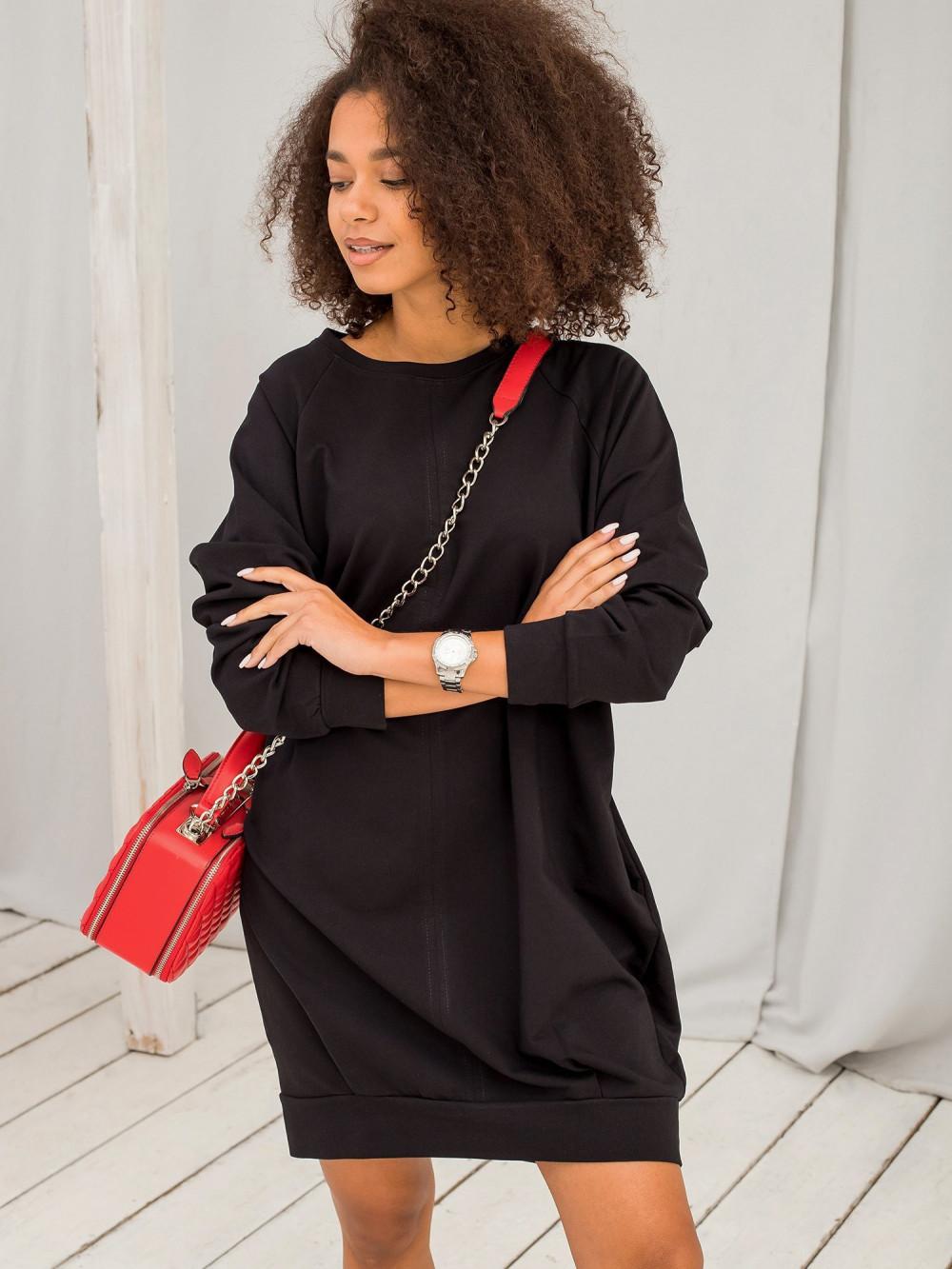 Czarna sukienka bluza Isernia 9