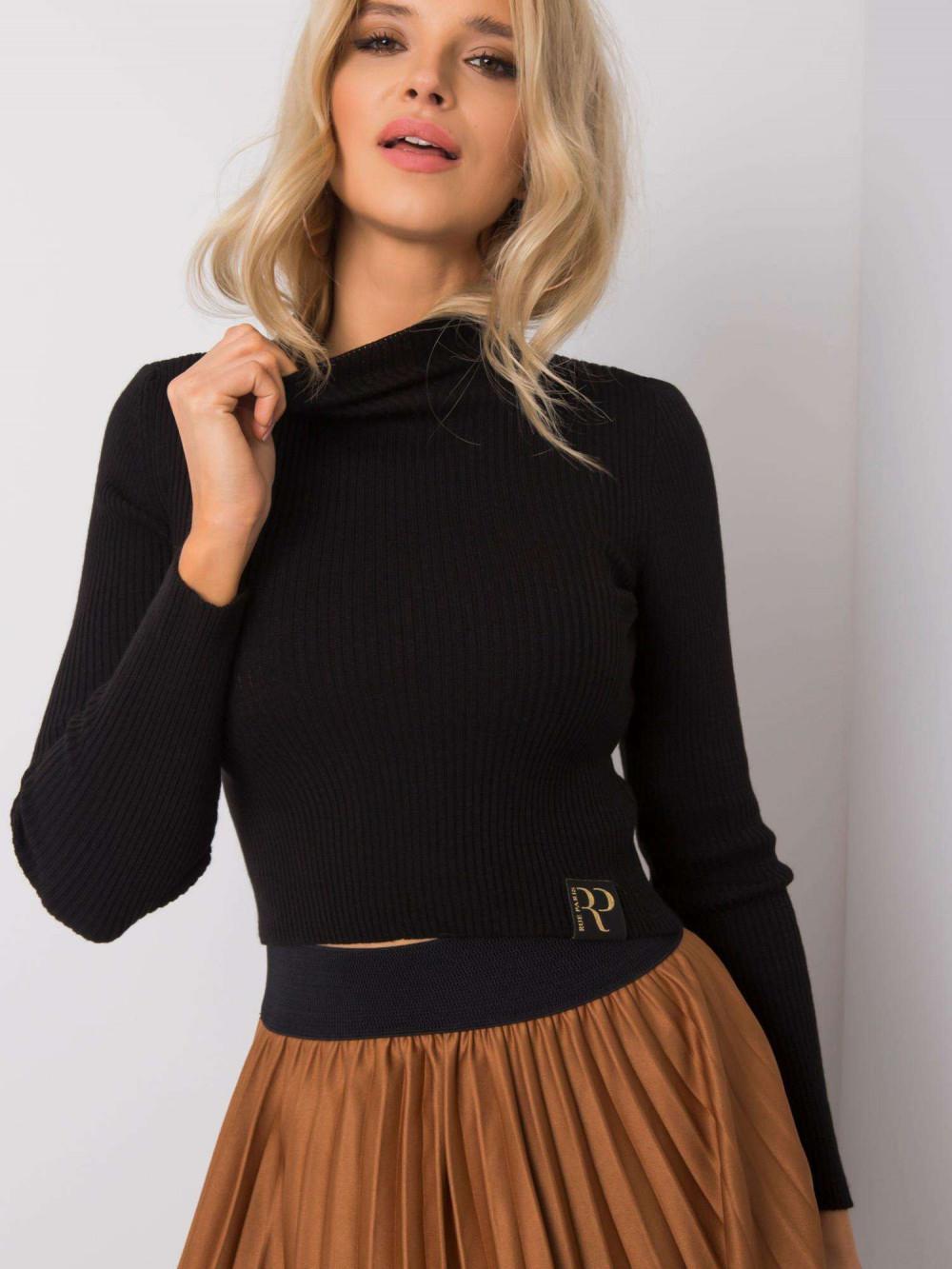 Czarny sweter crop top Ravello 3