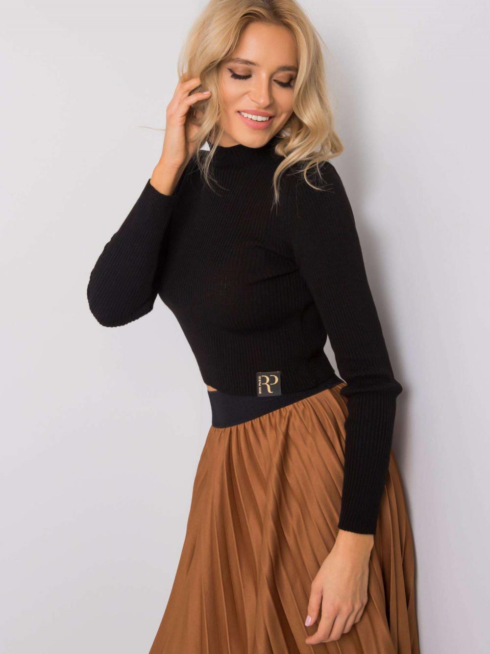 Czarny sweter crop top Ravello 4