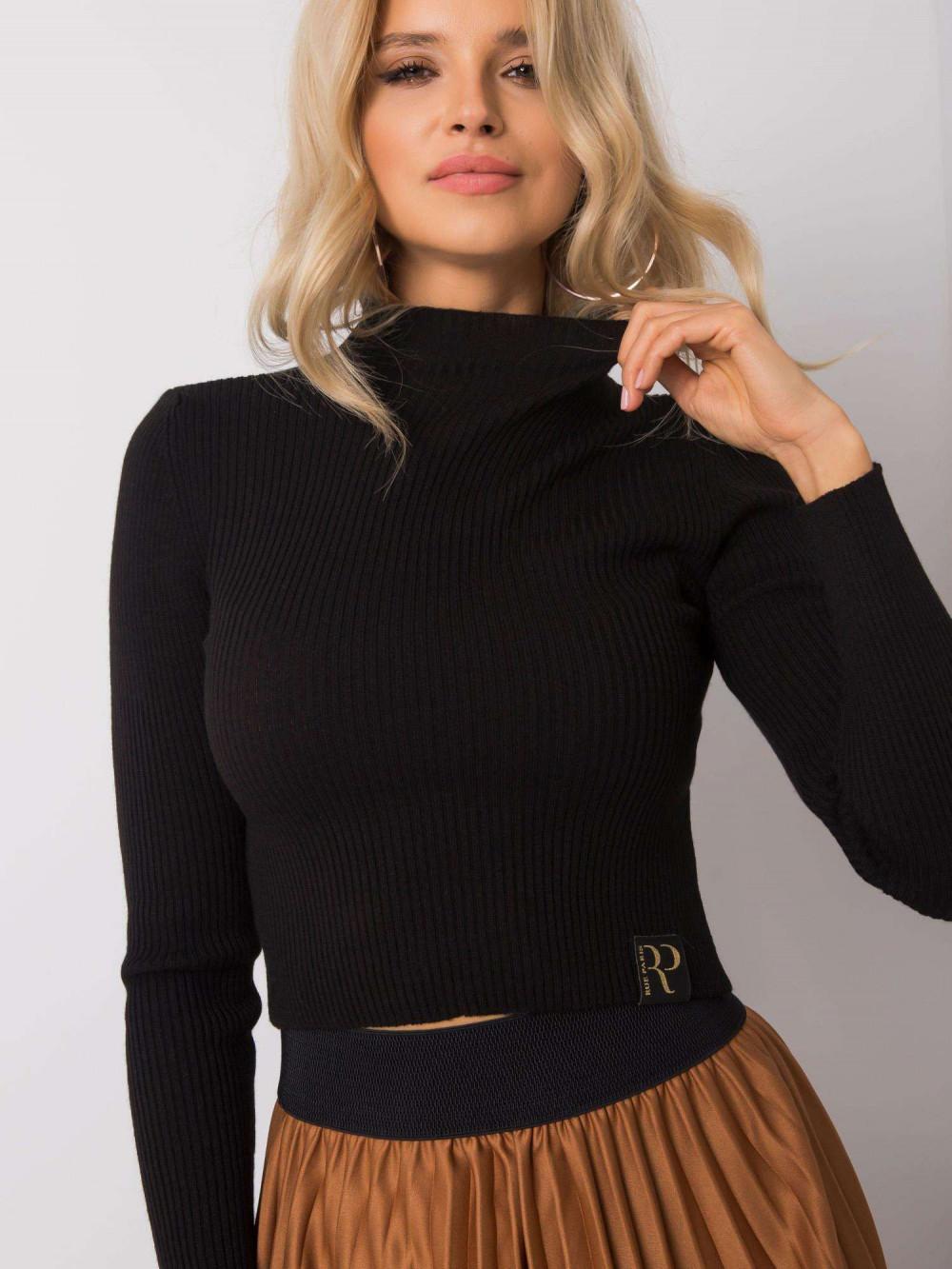 Czarny sweter crop top Ravello 6