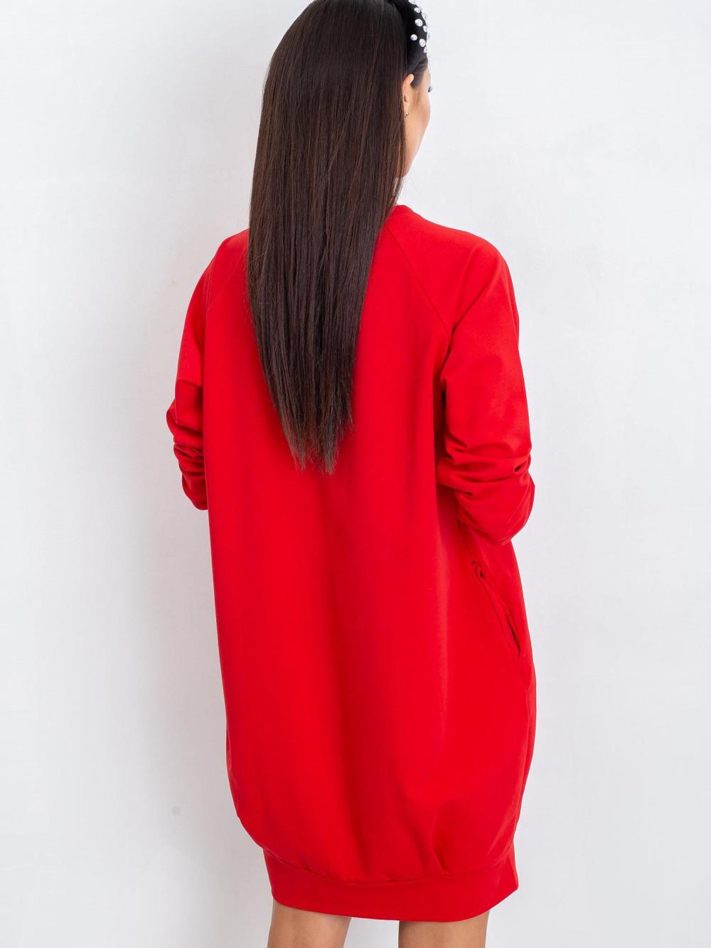 Czerwona sukienka bluza Lukka 2