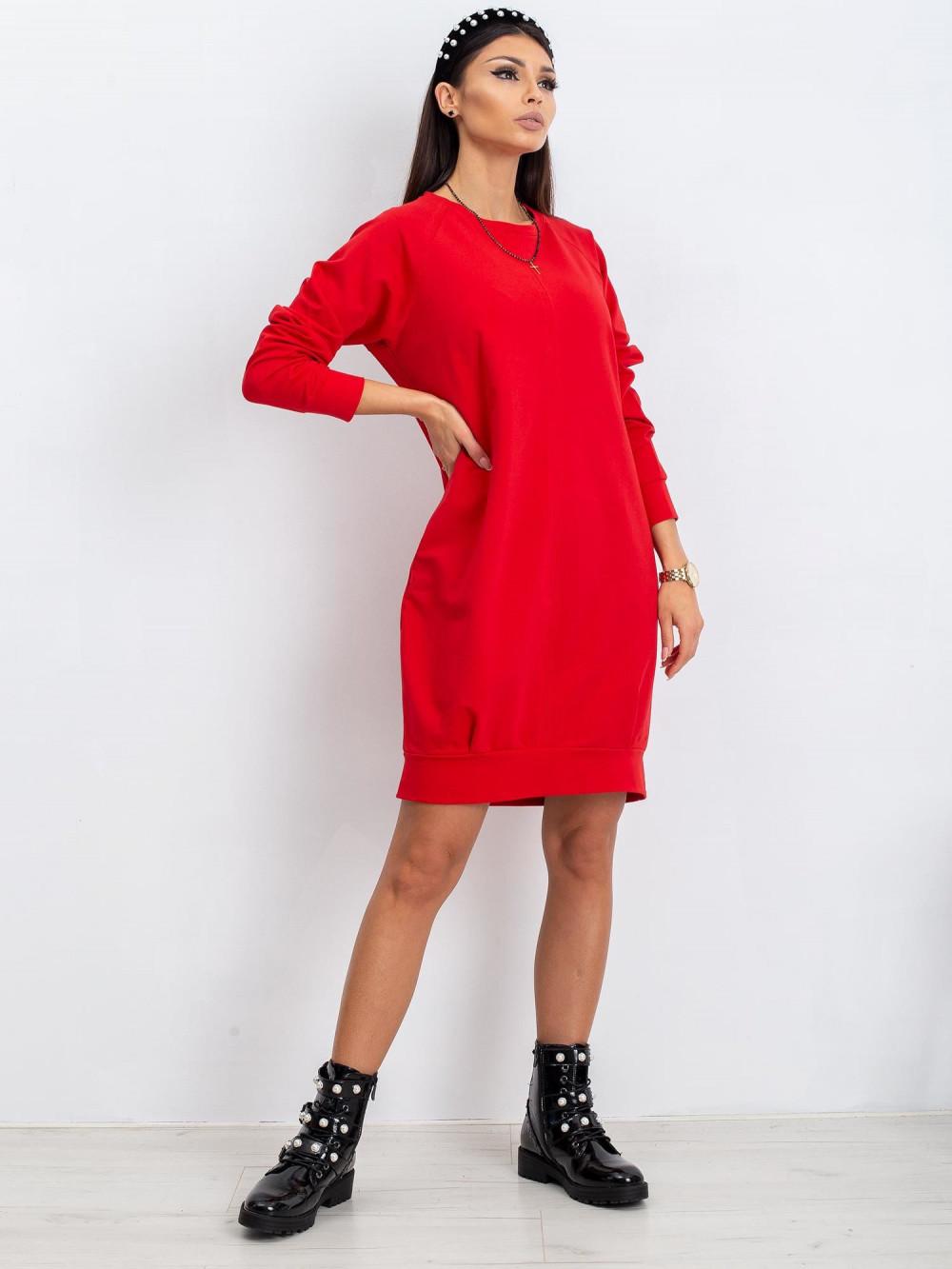Czerwona sukienka bluza Lukka 3