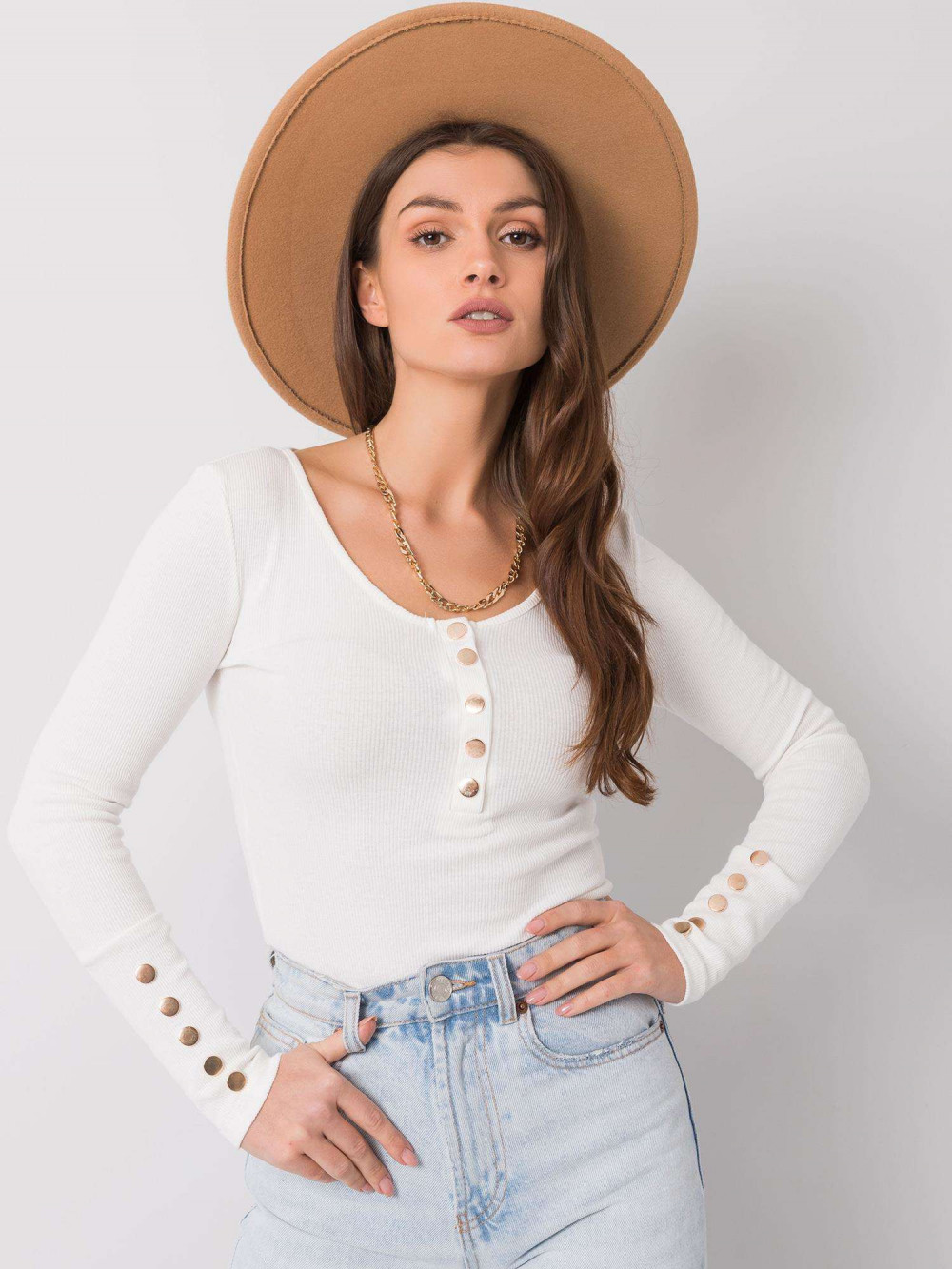 Biała bluzka z guzikami Alicante 1