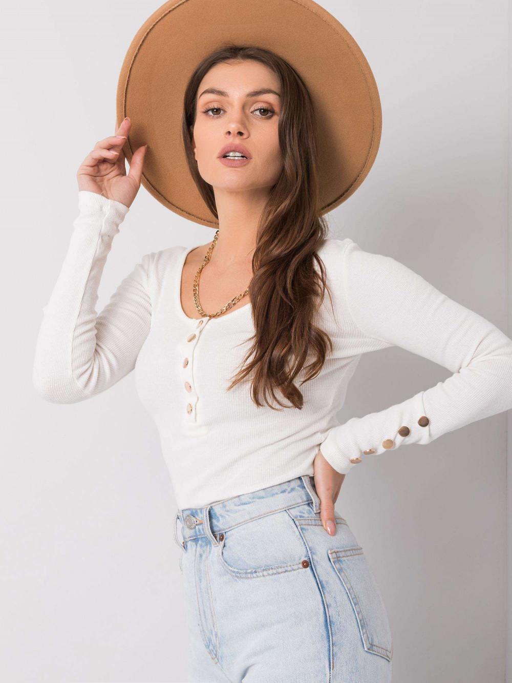 Biała bluzka z guzikami Alicante 2