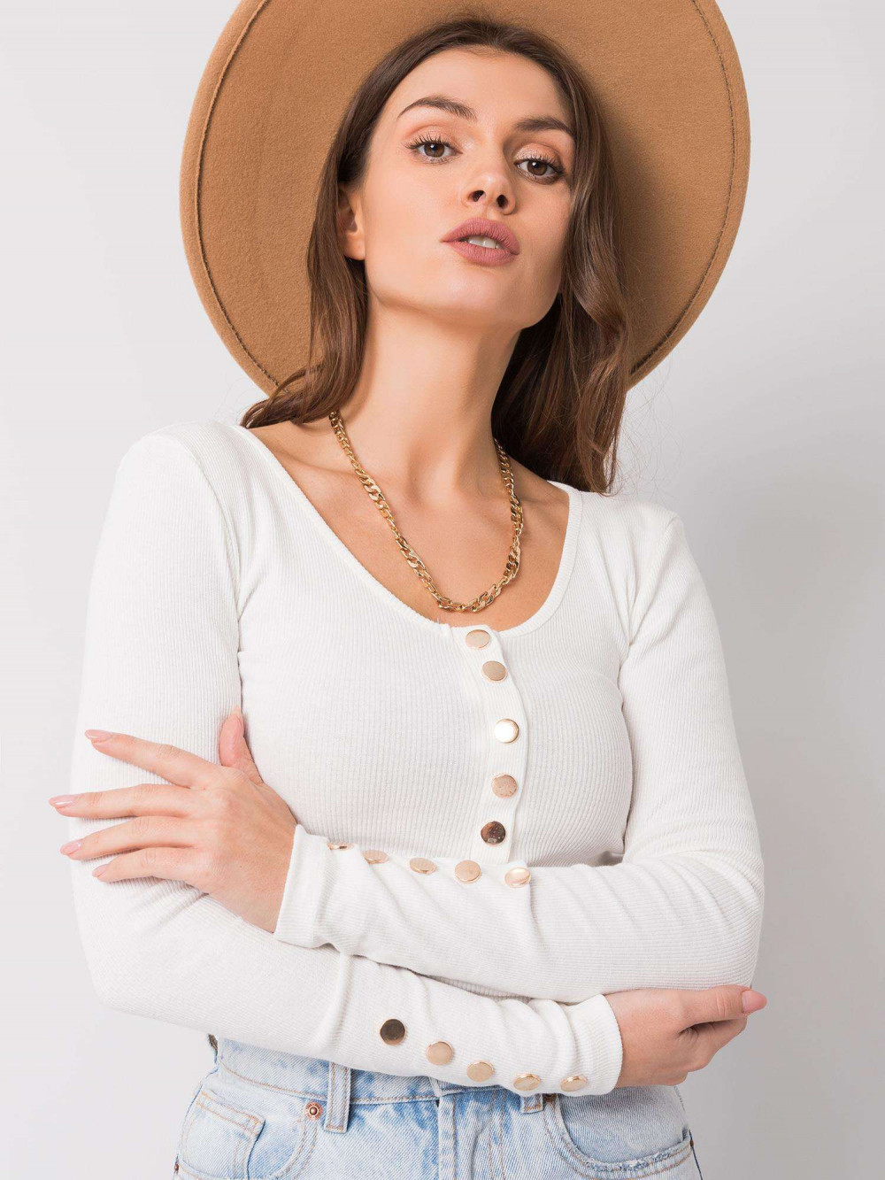 Biała bluzka z guzikami Alicante 4