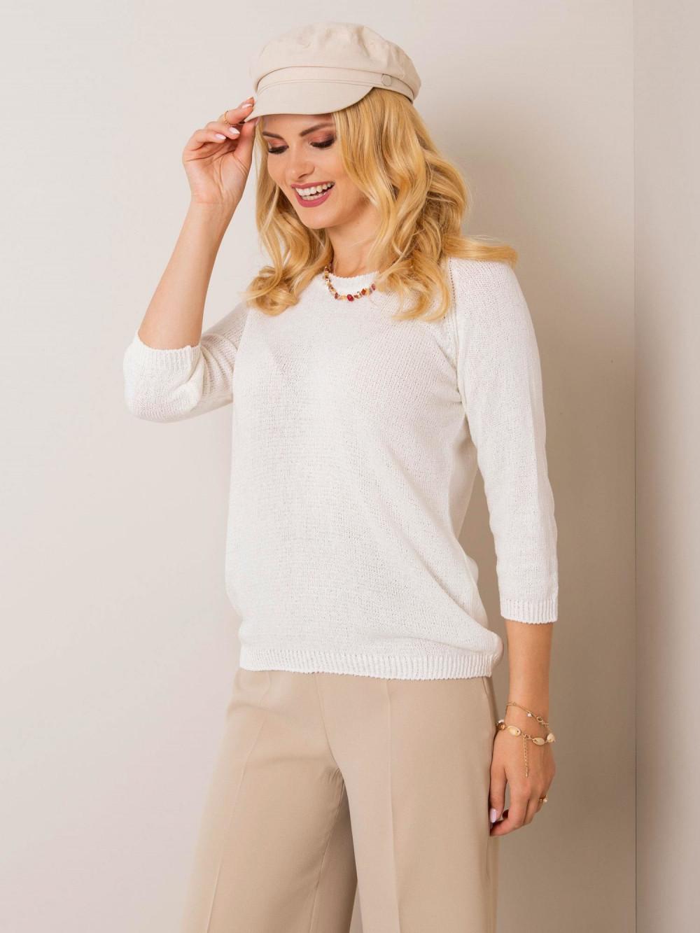 Ecru sweter klasyczny Sevilla 3