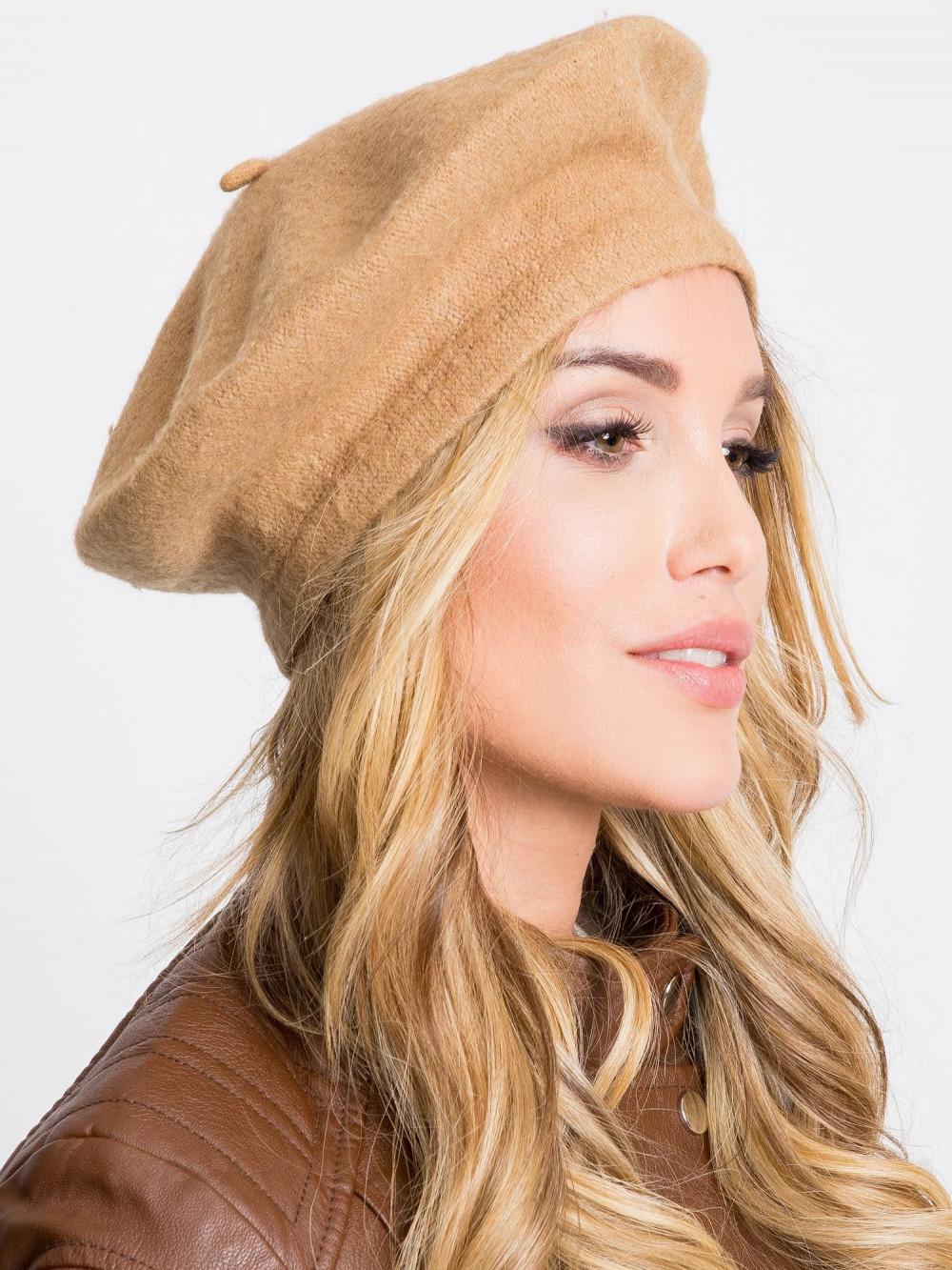 Brązowa czapka wełniana Creil 1
