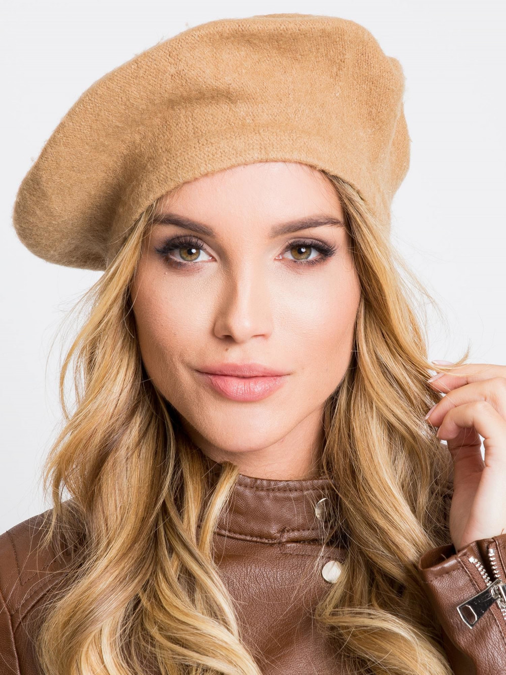Brązowa czapka wełniana Creil 2