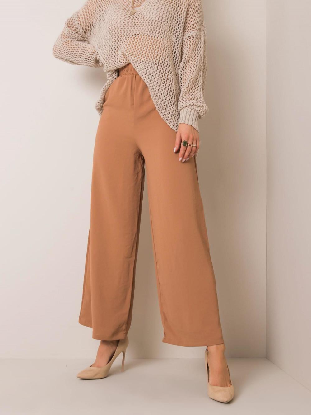 Karmelowe spodnie materiałowe Millau 1
