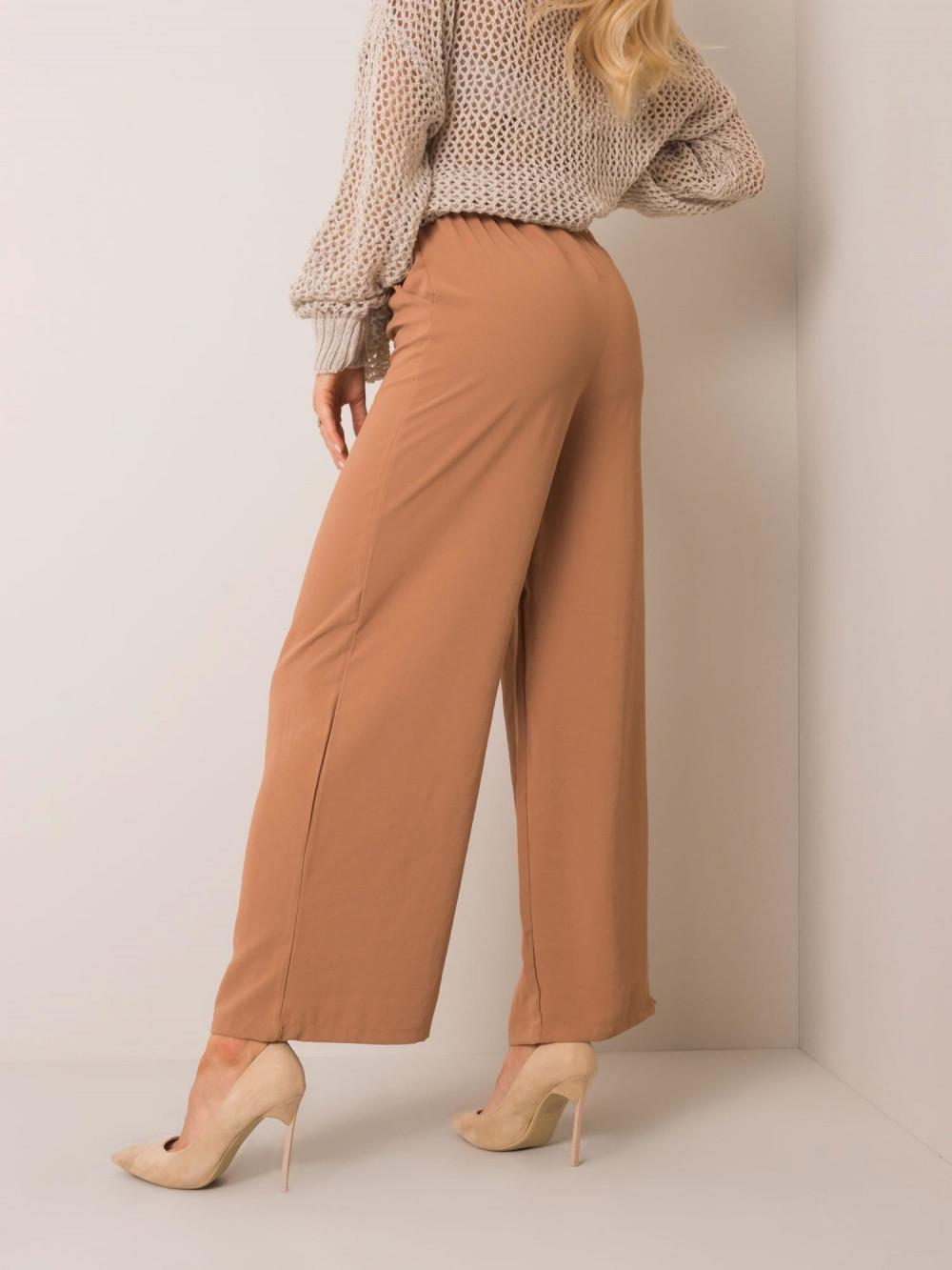 Karmelowe spodnie materiałowe Millau 2