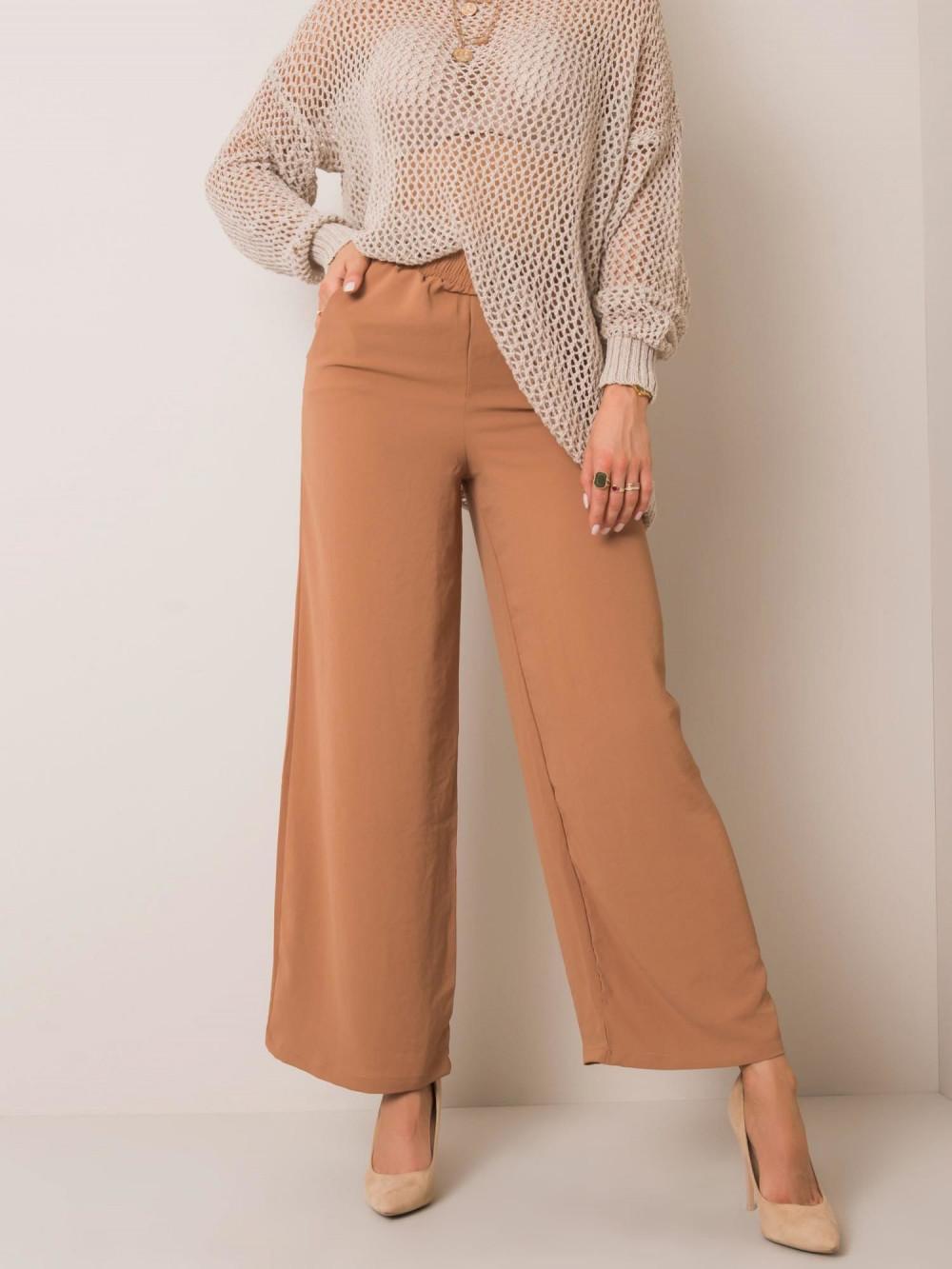 Karmelowe spodnie materiałowe Millau 3