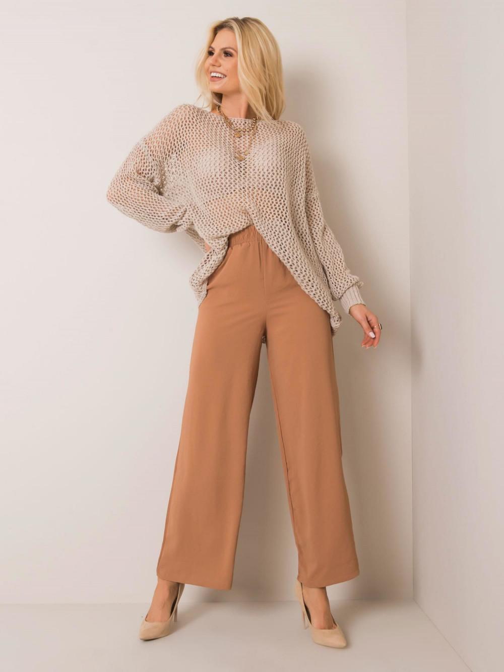Karmelowe spodnie materiałowe Millau 4