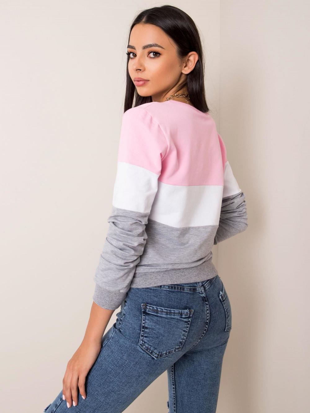 Różowa bluza w paski Saintes 1