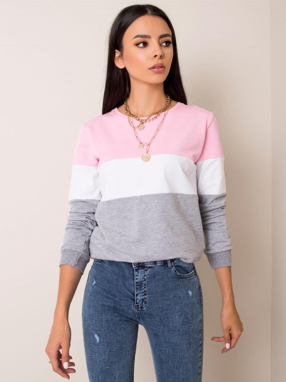 Różowa bluza w paski Saintes 2