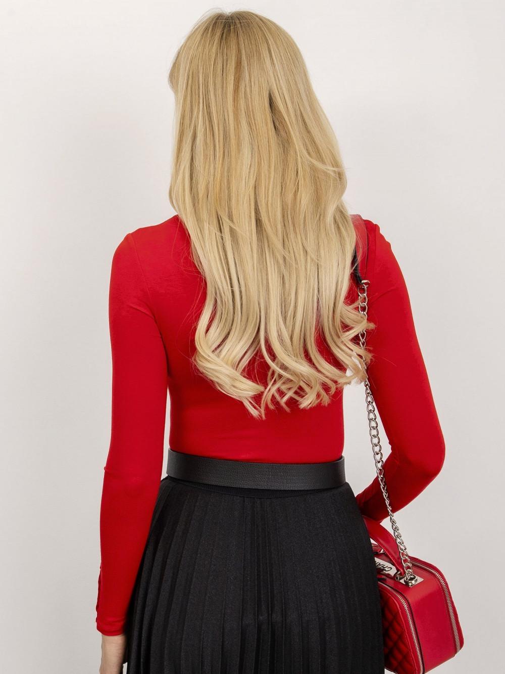Czerwona bluzka z półgolfem Fresnes 2