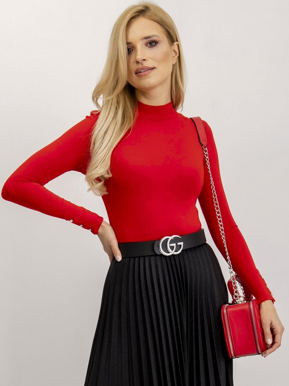 Czerwona bluzka z półgolfem Fresnes 4